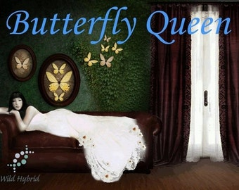 Butterfly Queen perfume oil - 5ml Ylang ylang, white orchid, white sugar, blonde sandalwood, spiced white musk and benzoin