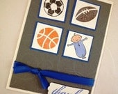 Baby Boy Sports Blank Thank You Cards - Set of 10