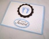 Baby Feet Boy Shower Invitation Set of 10