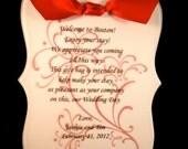 Wedding Welcome Note Sample - Wedding Sweet Design
