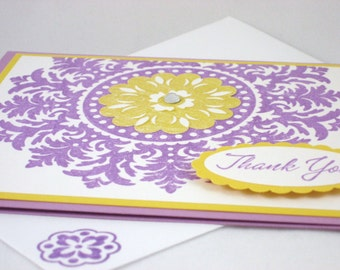 Blank Medallion Thank You Card Set of 5