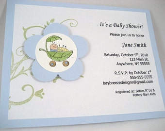 Cute As a Bug Boy Baby Shower Invite