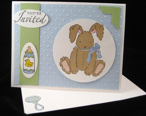 Baby Bunny Shower Invitation Sample