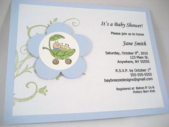 Cute As a Bug Boy Baby Shower Invite