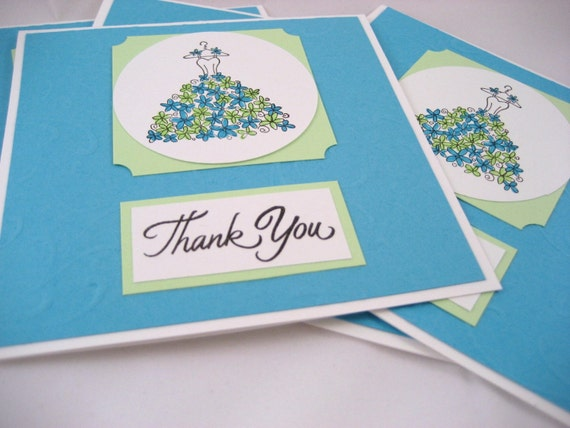 Bridal Party Thank You Card Set of 5