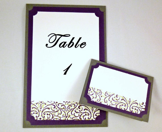 Elegantly Sweet Table and Place Card Set