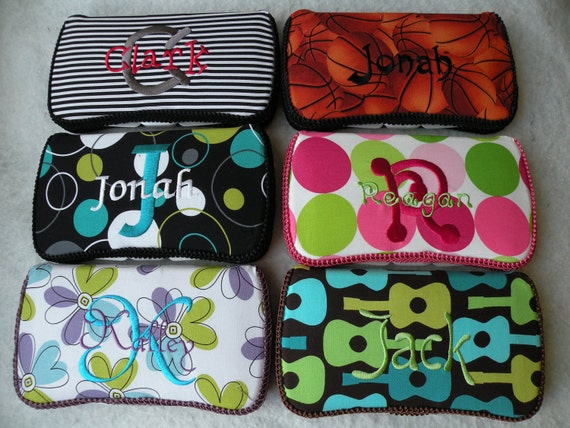 Design your own Wipe Case-250 fabrics-150 fonts-150 thread colors-FREE PERSONALIZATION...wipe case