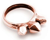 Stackable Spike Crystal Ring in Rose Gold