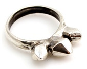 Stackable Spike Crystal Ring in Silver