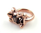 Quartz Growth Ring with 8MM Gemstone in Rose Gold