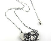 Pyrite Crystal Necklace in Silver