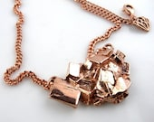 Pyrite Crystal Necklace in Rose Gold