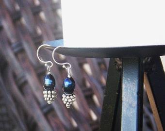 Midnight Blue Pearl Earrings