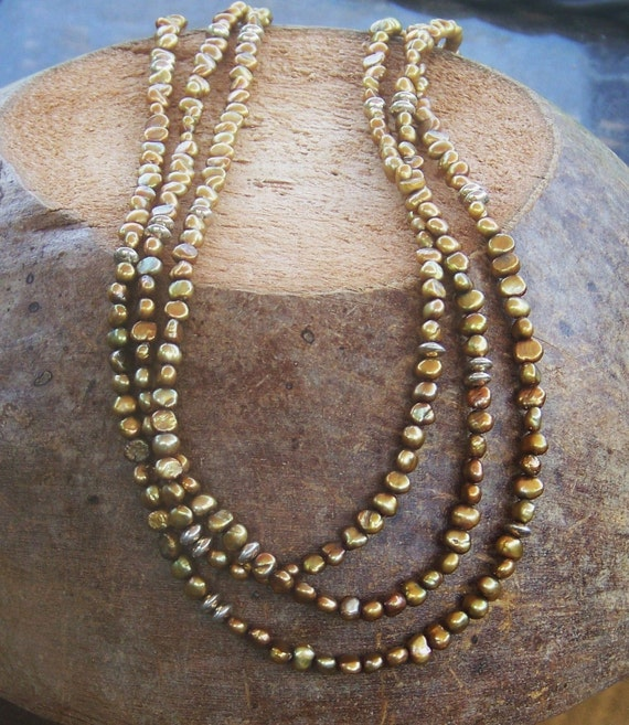 Layered Silver and Gold Pearl Necklace