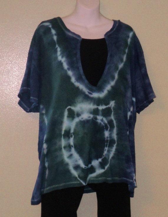 Ladies Knit Cotton Tie Dye T-Shirt , Plus 3X
