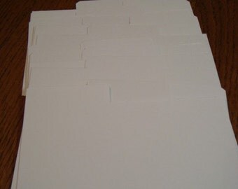 Coupon Organizer Tab Divider Cards Pack of 20
