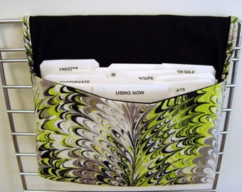 40% Off Coupon Organizer /Budget Organizer Holder - Attaches to Your Shopping Cart -Marbleized In Lime