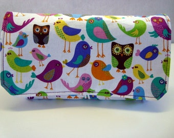 Coupon Organizer Holder- Attaches to Your Shopping Cart - Love Birds With Owls