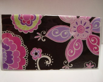 Stylish Checkbook  Holder / Cover/ Case - Boho Blossom