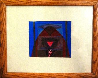 Earth Altar, earth, earthy, primitive, triangle, brown, blue