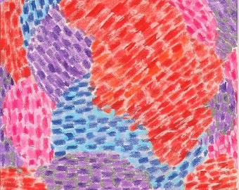 Mixed Berries, Original Drawing, ACEO, berries, berry, blue, red, purple, summer