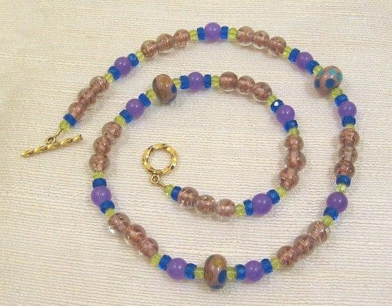 Lampwork and Czech Glass Beads, Monet's Garden, OOAK