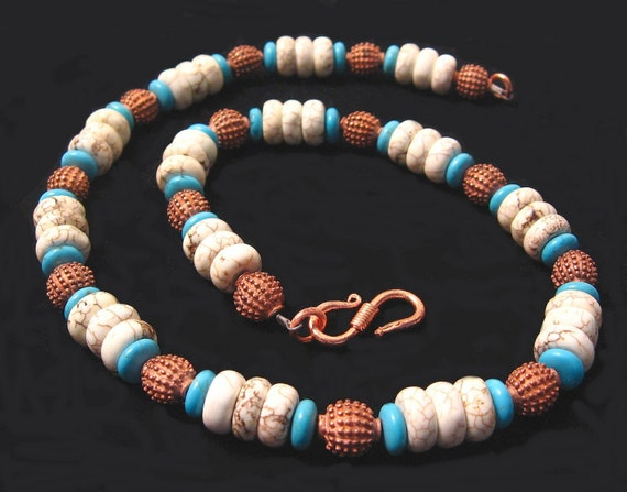 Turquoise and Copper Southwest Dream Necklace OOAK