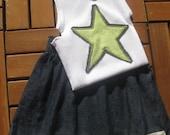 Denim Skirt and Singlet Set - Size 1 year (toddler)