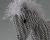 Silver Grey Pony- knitted, waldorf, pony, horse, softie, amigurumi