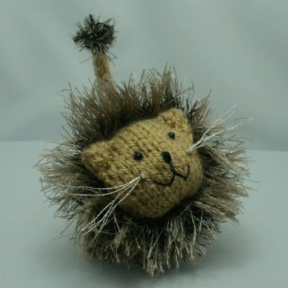 Lion, knitted, amigurumi, softie