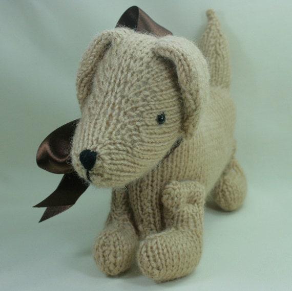 Daschhund  Dog -  knitted, amigurumi, long dog, softie