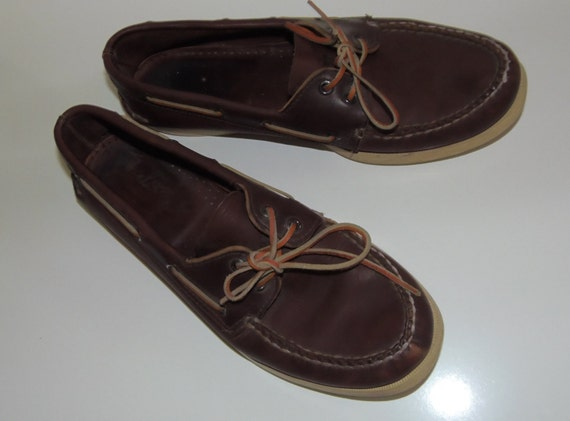 80s Vintage Sperry Top Sider Boat Shoes Womens 10 Mens 8.5/9