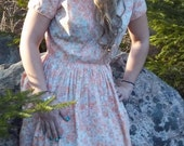 1950's VINTAGE  DAY DRESS by , Beaumart ,Spring Fashion, Summer Party, Wedding Party, Shabby Chic, Feminine,