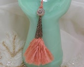 Luscious Peach Silk Key Tassel