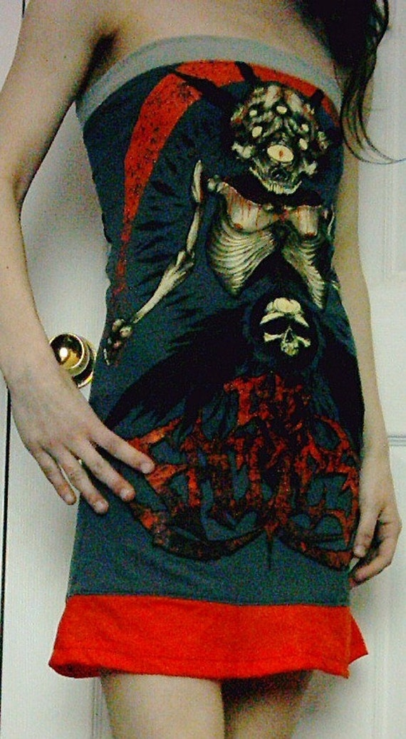 Reserved for kittykat19891 - CLEARANCE - THE FACELESS Dress Diy Death Metal Corset