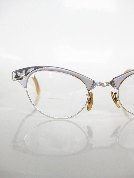 Vintage cat eye art craft eyeglasses glasses optical frames for Art craft eyeglasses vintage