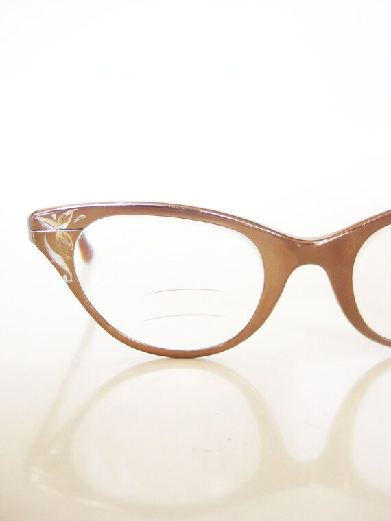 Vintage 1950s Glasses // 50s Eyeglasses TURA // Copper CATEYE Cat Eye Fifties Mad Men Indie ROCKABILLY