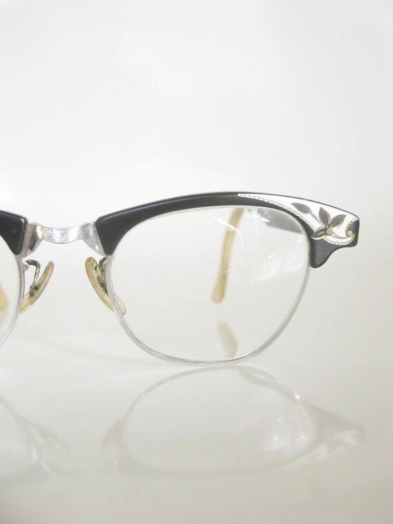 Vintage 1950s art craft glasses 50s cat eye eyeglasses for Art craft eyeglasses vintage