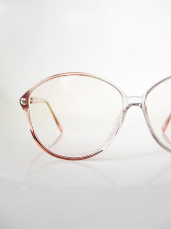 Vinage 1980s COTTON CANDY Eyeglasses Glasses ROUND Sunglasses Womens 80s Pink Bubblegum Wayfarer