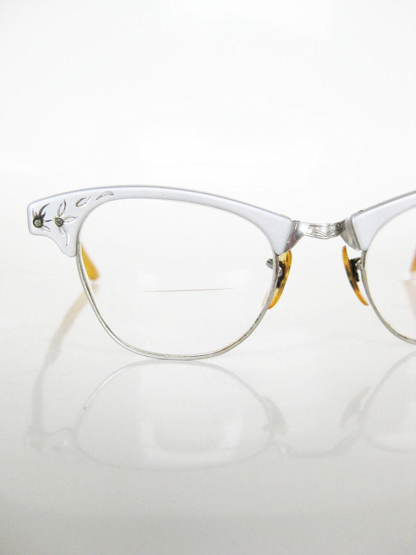 Vintage CAT EYE Art Craft Eyeglasses Glasses Optical Frames