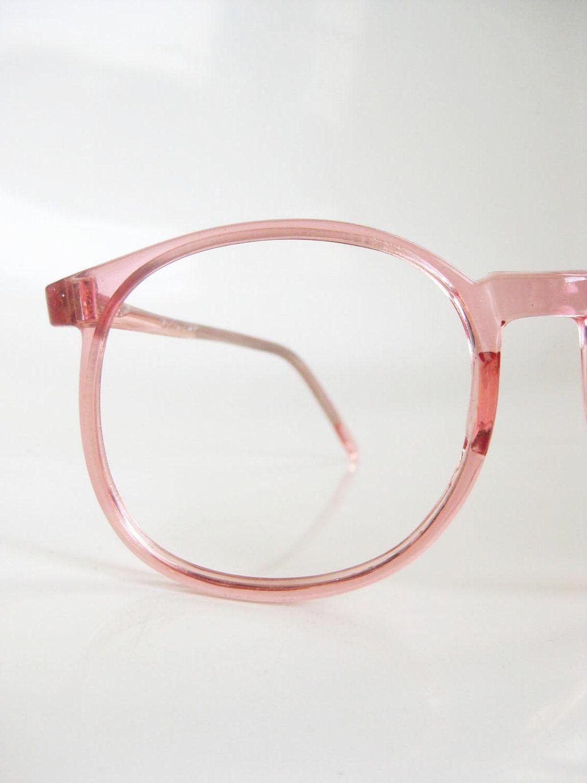 vintage pink eyeglasses womens 1980s