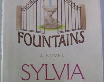 Vintage Novel  Book  First EDITION  SIGNED The Fountains by Sylvia Wallace  1976 Best Seller