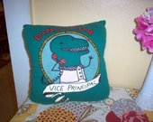 vice  principal is a dinosaur - throw pillow