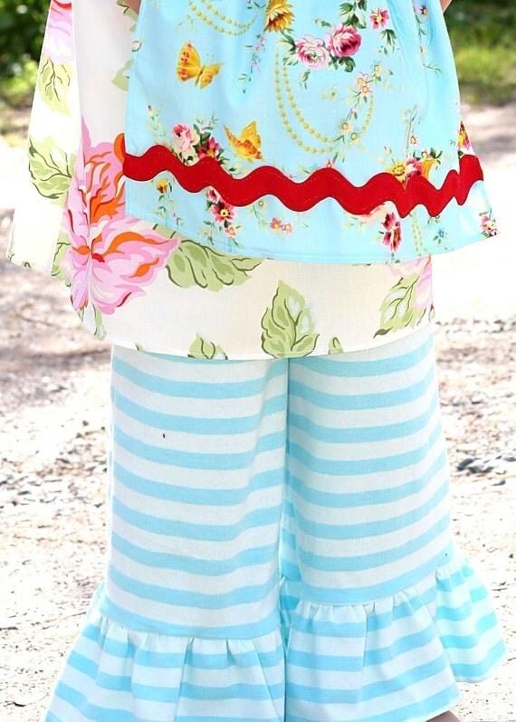 DOUBLE TROUBLE Striped Knit CAPRIS Sample Sale Size 6