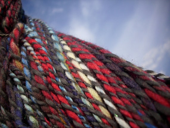 Party With a Gas Can 270 yds blue red handspun