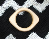 Natural Teether - Natural Baby Teething Ring in Rock Maple