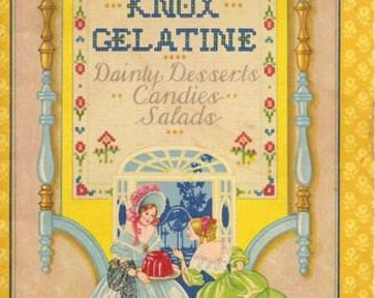 1929 knox Geletin Desserts, Candies Salads Receipe Book
