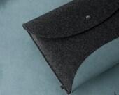 Macbook Air sleeve 11 or 13 inch Mac Book Air felt leather sleeve SPACE Earth Edition