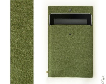 iPad Air felt sleeve German wool felt sleeve DEEP FOREST iPad felt case
