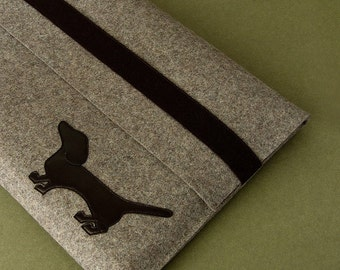 Macbook Air sleeve Macbook Pro sleeve or MacBook Pro dachshund felt sleeve WALDI